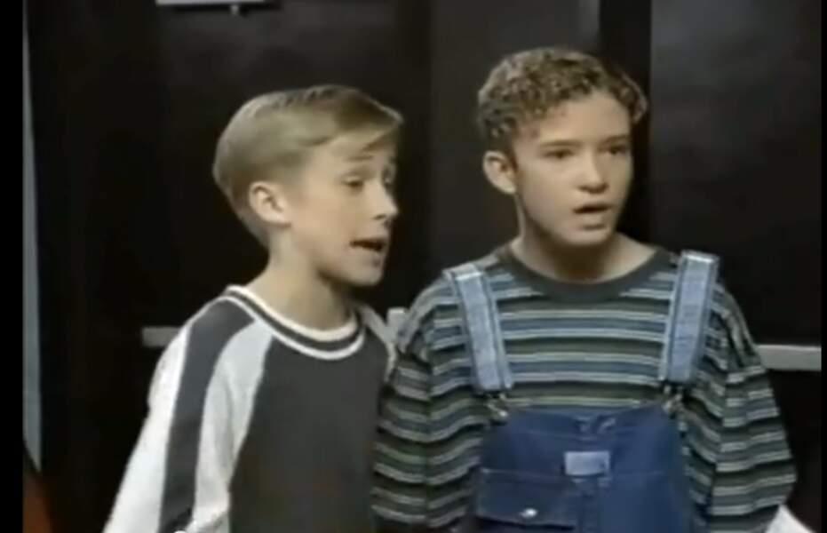 Justin Timberlake et Ryan Gosling au Mickey Mouse Club (années 1990)