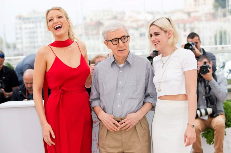 Le réalisateur est venu avec ses actrices : Blake Lively et Kristen Stewart