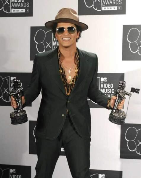 Bruno Mars est reparti avec le prix de la meilleure vidéo masculine et celui de la meilleure chorégrahie