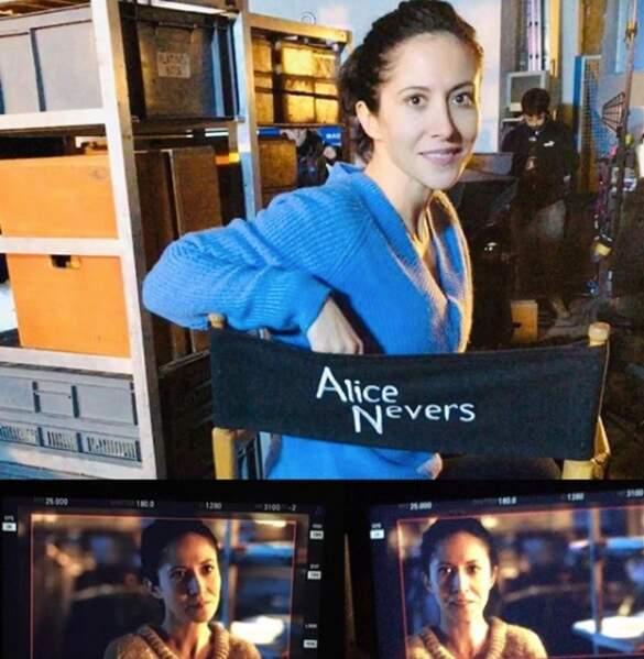 Fabienne Carat sur le tournage d'Alice Nevers