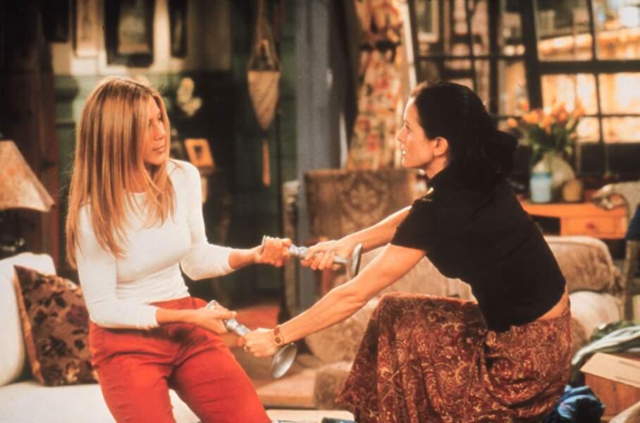 Friends (saison 6 - 1999) : avec Courteney Cox