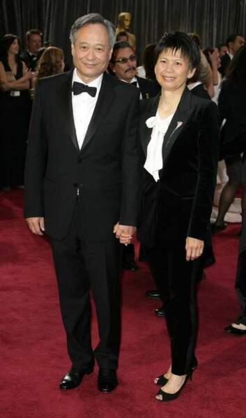 Ang Lee, meilleur réalisateur pour L'odyssée de Pi et sa femme Jane Lin
