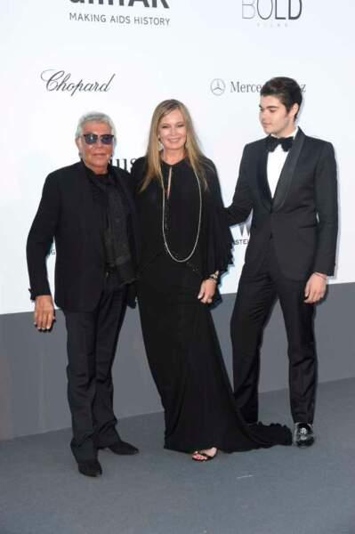 Roberto Cavalli et sa famille