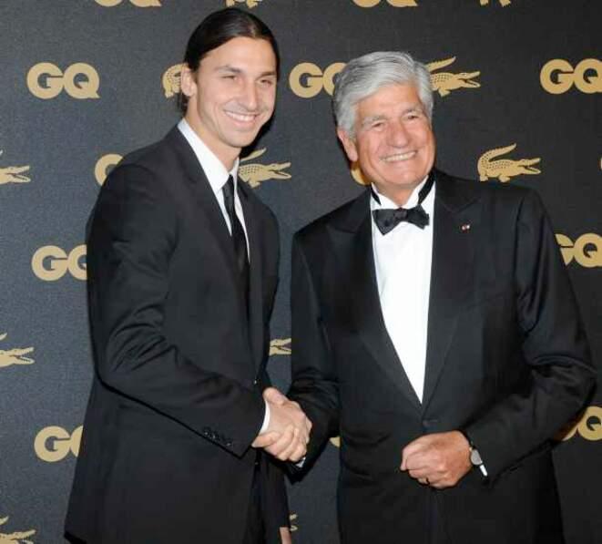 Zlatan avec le magnat de la pub Maurice Levy