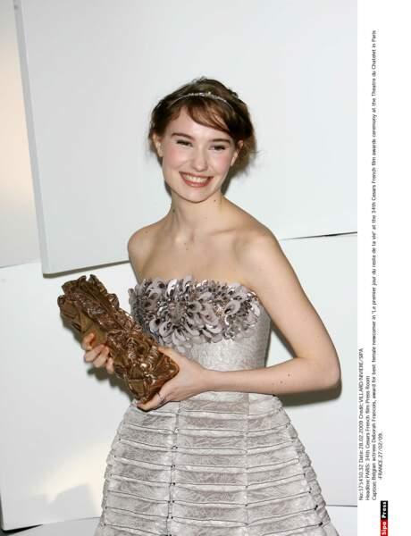 Et pourtant en 2009, le rôle de Fleur lui permet de décrocher le César du Meilleur Espoir Féminin !