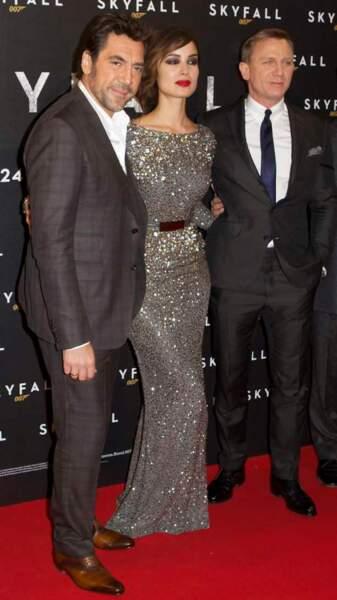 Javier Bardem, Bérénice Marlohe et Daniel Craig, à l'avant-première de Skyfall