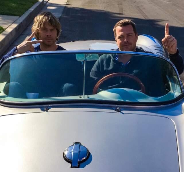 La vie est belle et le soleil brille pour Eric Christian Olsen et Chris O'Donnell, les agents du NCIS : Los Angeles
