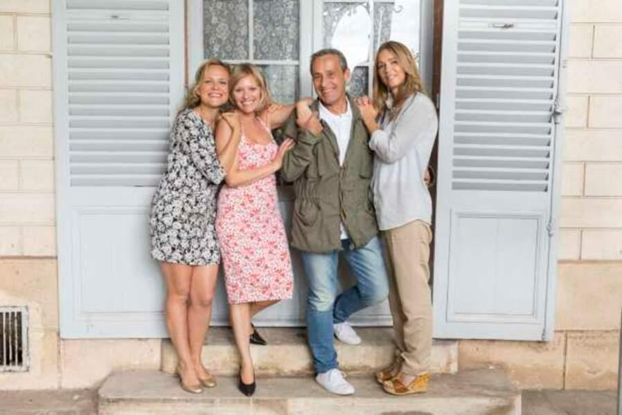 Justine, Annette, Roger et Hélène réunis au mariage