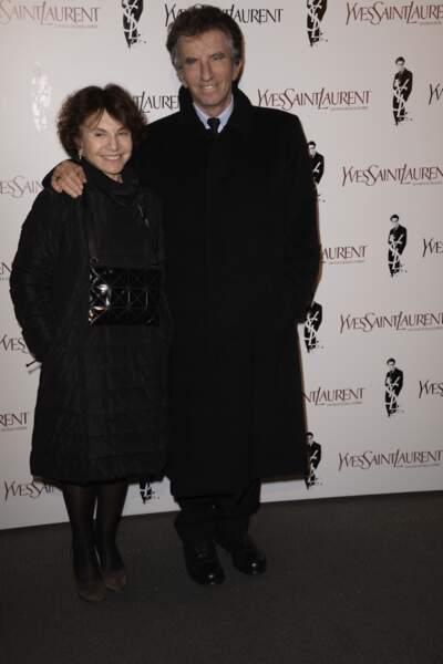 L'ancien ministre de la culture Jack Lang et sa femme