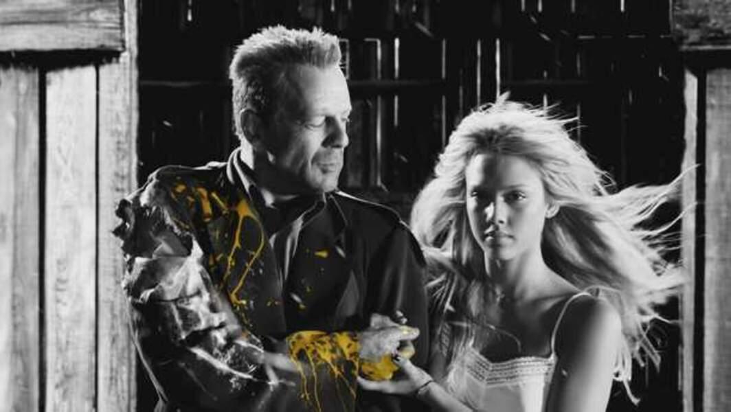 Sin City (2005) - Bruce Willis et Jessica Alba