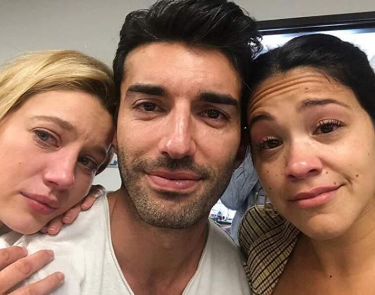 Les acteurs de Jane The Virgin en larmes à la sortie de la séance de lecture de l'ultime épisode de la série...