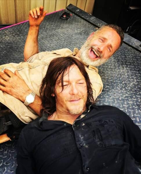 Si Andrew Lincoln a bien quitté The Walking Dead, il s'est tout de même éclaté jusqu'à la fin du tournage