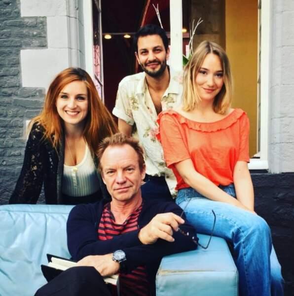 Avec l'équipe du film