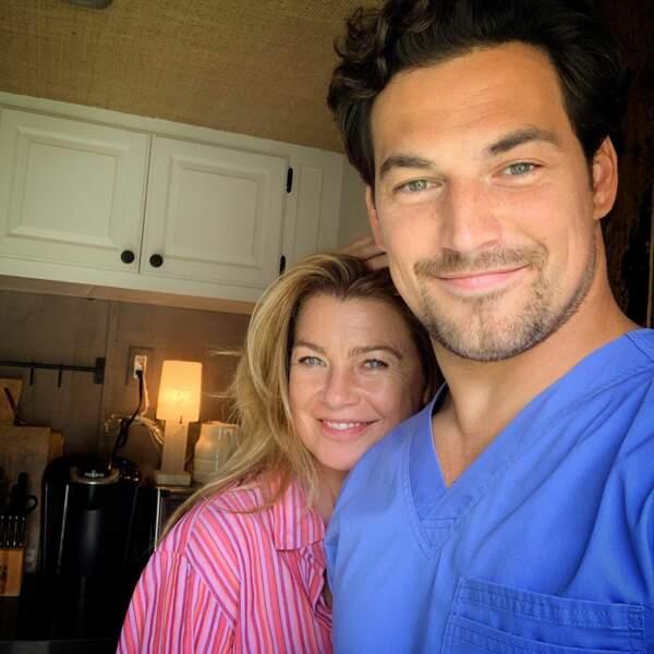 Premier jour de tournage Grey's Anatomy. Ellen Pompeo va faire des jalouses dans les bras de Giacomo Gianniotti