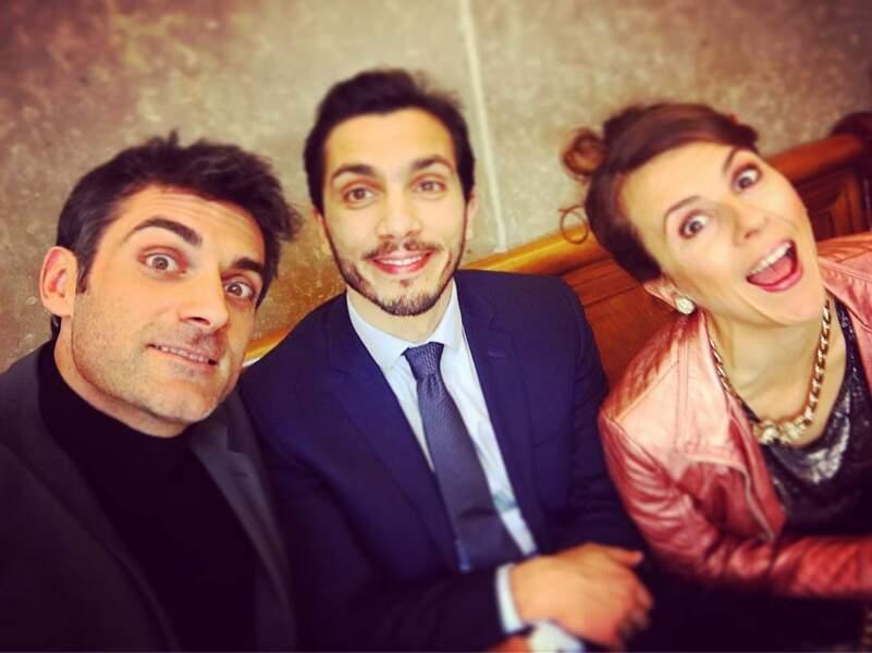 Gill Alma sur le tournage de On va s'aimer un peu, beaucoup saison 2 à Lyon avec Nicole Ferroni et Samir Boitard