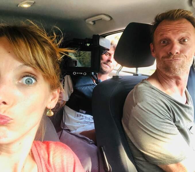 Elodie Varlet et Régis Maynard vous montrent les coulisses d'un tournage en voiture dans Plus belle la vie