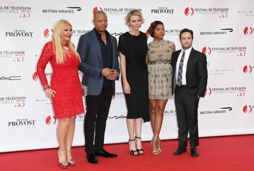 Son Altesse avec Monika Bacardi, Danny Strong et les stars d'Empire Terrence Howard et Taraji P. Henson…