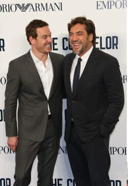 ... Javier Bardem, avec lequel il ne peut s'empêcher de faire de bonnes blagues... Sacré Michael !