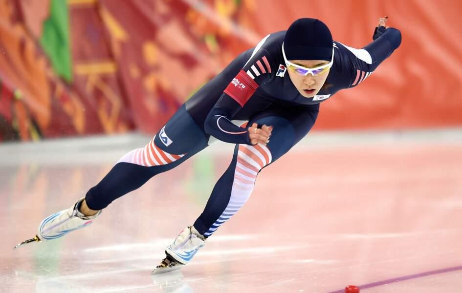 Le sud-coréen Sang Hwa Lee remporte le 500m en patinage de vitesse