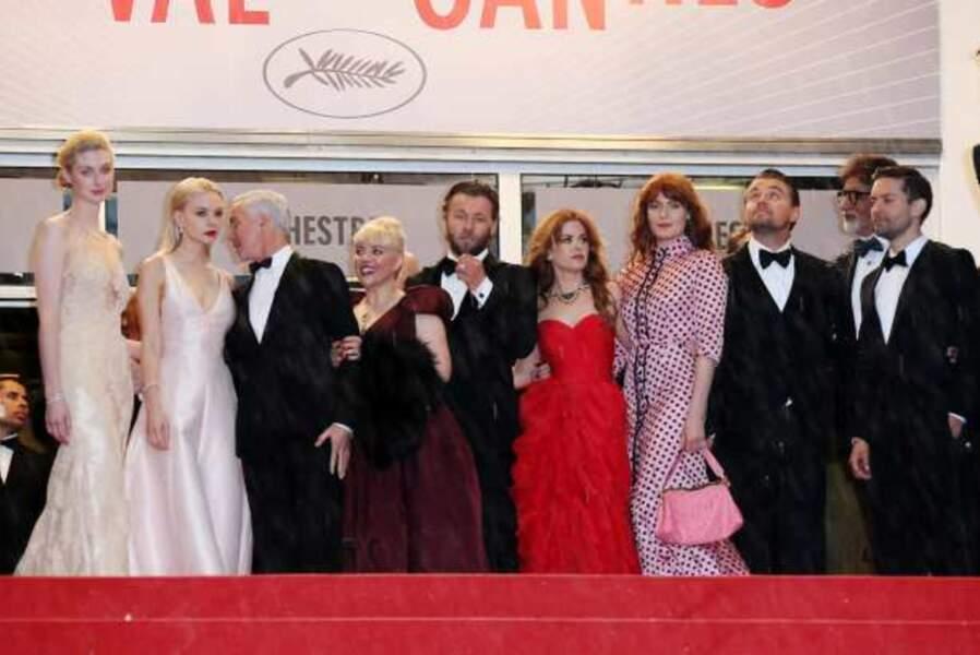L'équipe de Gatsby le magnifique sur les marches du Palais des Festivals