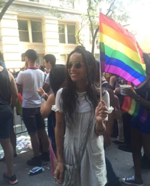 Elle milite aussi pour la cause LGBT