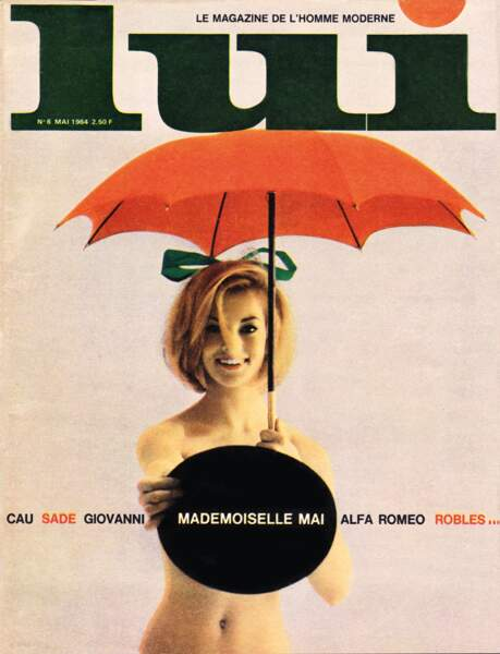Mai 1964 : Mireille Darc pose nue dans le magazine. De quoi faire frémir plus d'un grand blond...
