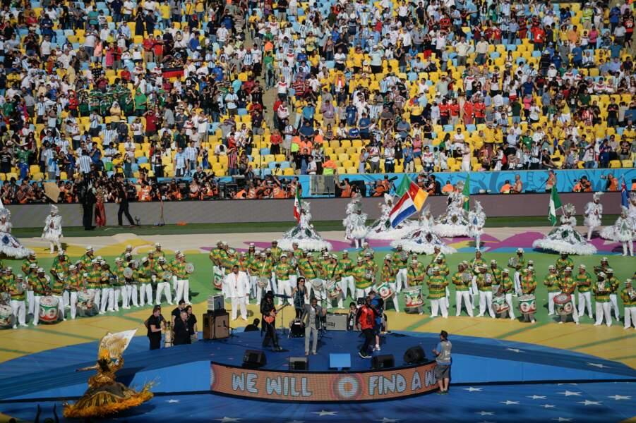 Le stade Maracana était plein à craquer pour la cérémonie de clôture et la finale