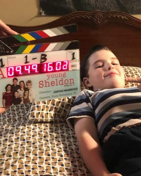 Premier jour de tournage pour Iain Armitage, la star de Young Sheldon
