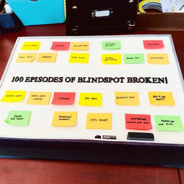 Blindspot célèbre un événement de taille… En effet, la série vient de tourner son 100e épisode