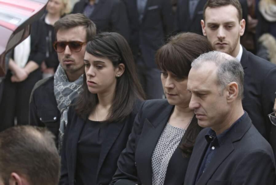 Le compagnon de Camille, William Forgues, sa soeur Chloé et ses parents