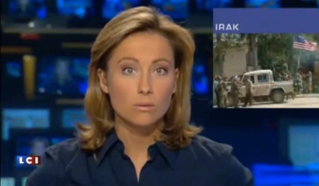 Anne-Sophie Lapix très sérieuse sur LCI.
