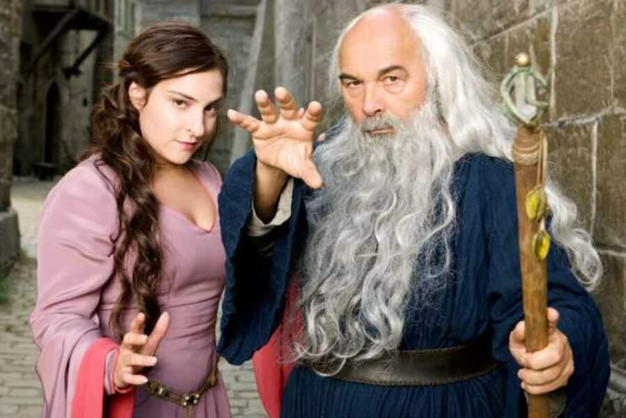 Gérard Jugnot et Marilou Berry dans Merlin