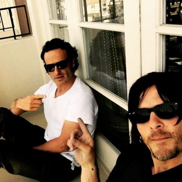 Avec Rick (Andrew Lincoln) partir à la chasse aux zombies les a rapproché