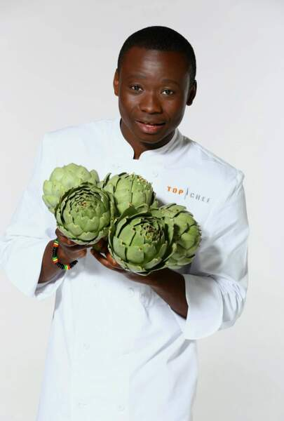Dieuveil Malonga, 21 ans, demi-chef de partie à l'hôtel Intercontinental Dieu (Marseille)