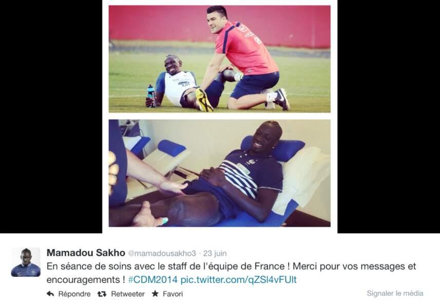 Blessé à la cuisse pendant France/Suisse, Sakho, victime d'une élongation, n'a pas joué contre le Nigeria