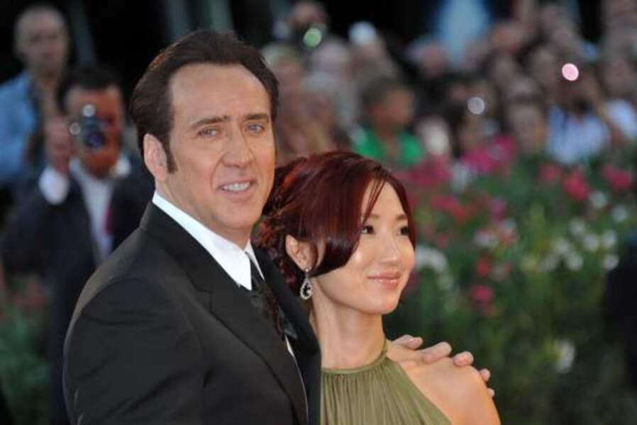 Nicolas Cage et sa femme Alice Kim Cage