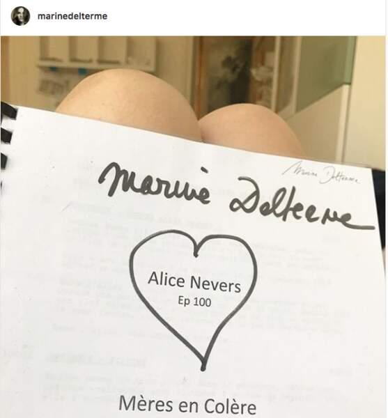 et le plateau d'Alice Nevers semble être rempli d'amour.