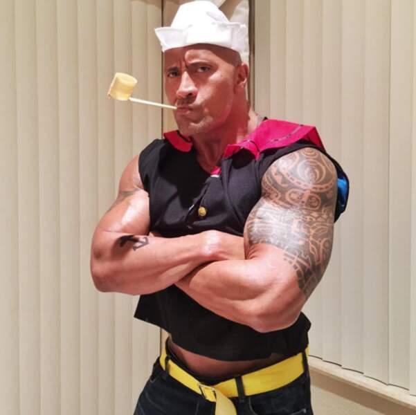 Pour Halloween, Dwayne a choisi de se déguiser en Popeye