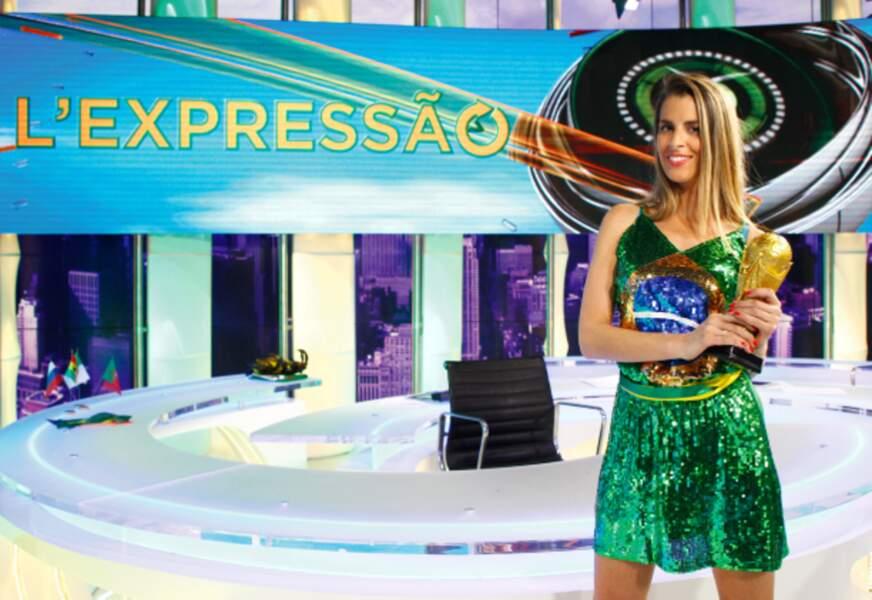 Les couleurs du Brésil mettent en valeur la Française Vanessa Le Moigne (beIN Sports).
