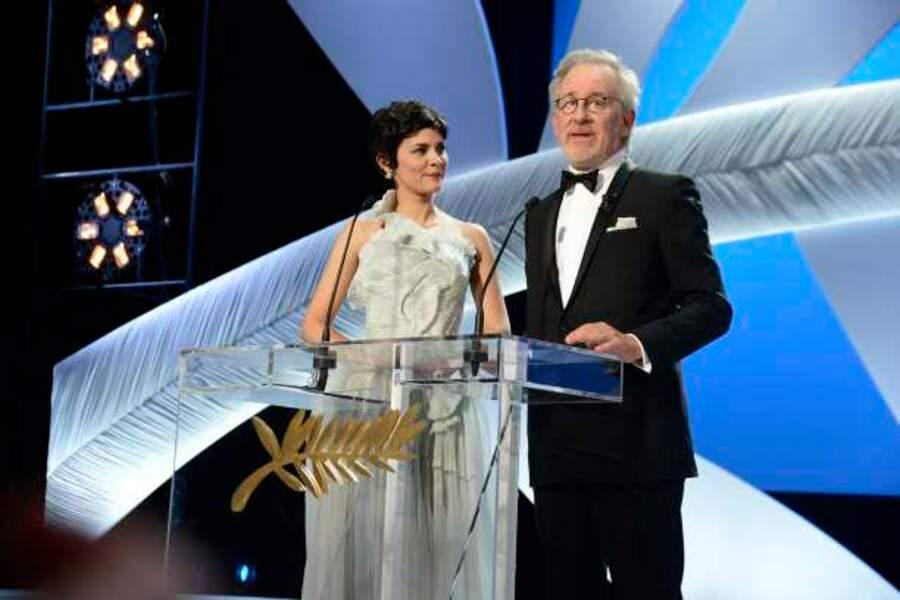 Audrey Tautou et Steven Spielberg