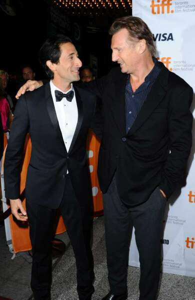 Adrien Brody et Liam Neeson à l'avant-première de Third Person