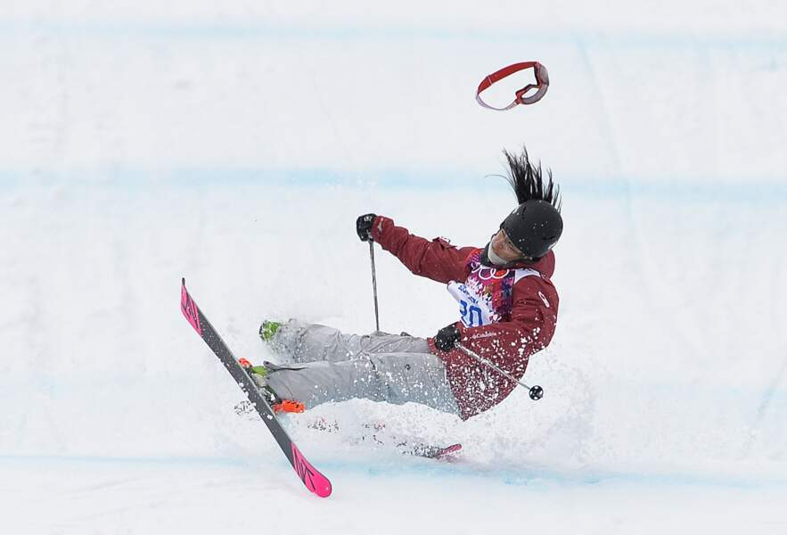 Chute de Yuki Tsubota (Ski freestyle - slopestyle)