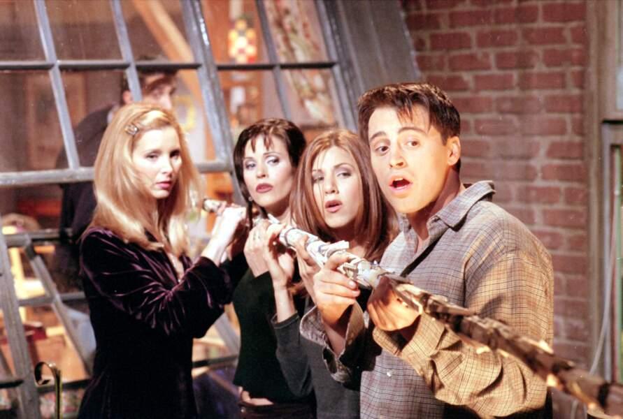 Friends (saison 3 - 1996) : avec Lisa Kudrow, Courteney Cox et Matt LeBlanc