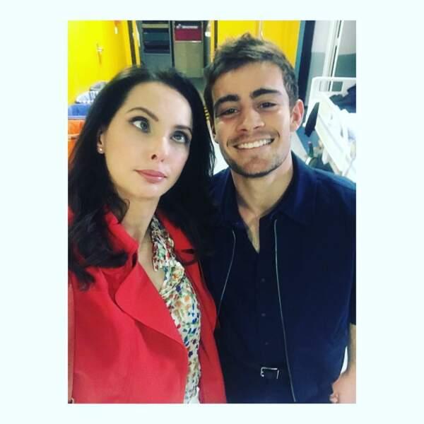 Frédérique Bel et Clément Rémiens sur le tournage de la nouvelle fiction de TF1 : Pour Sarah !