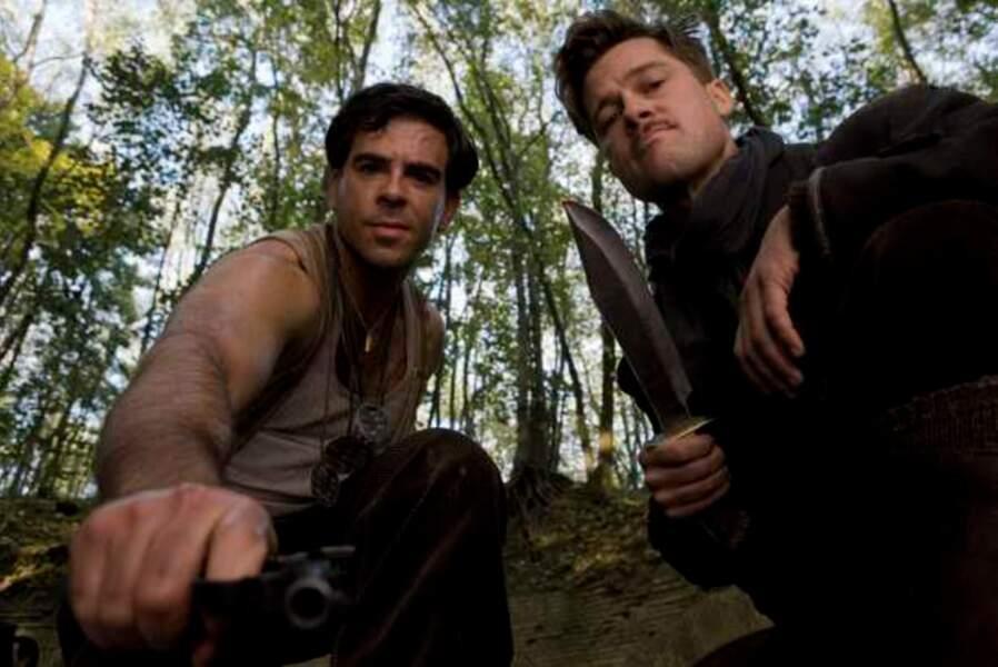 Inglorious Basterds (2009) - Eli Roth et Brad Pitt