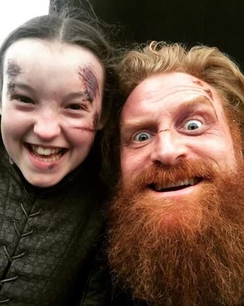 Tormund et la jeune Lady Lyanna Mormont : SMILE !