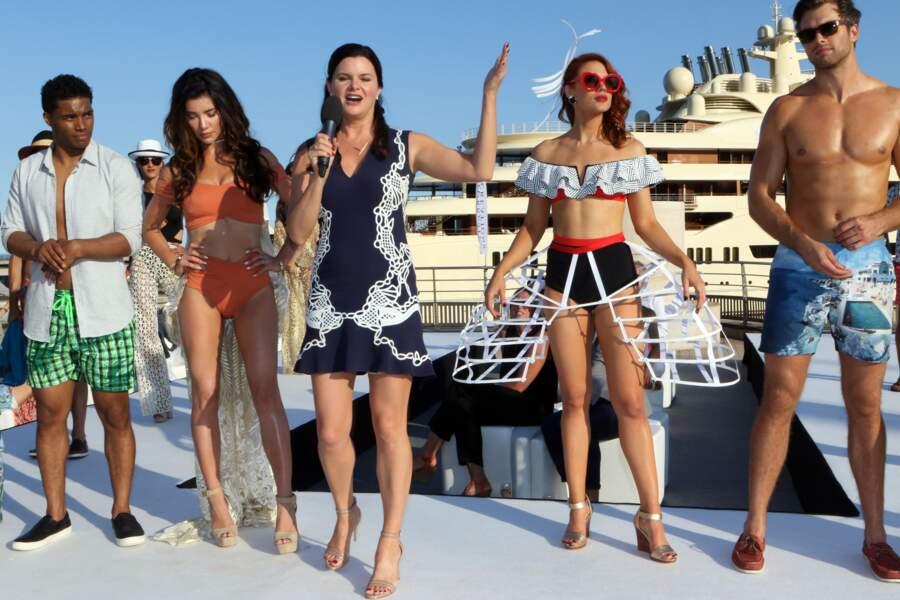 Ambiance défilé de mode en bord de mer