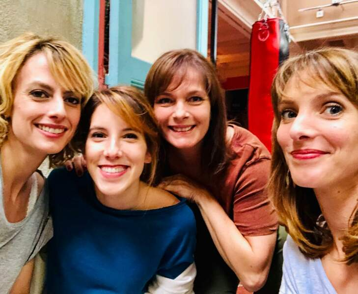 Sara Mortensen, Léa François, Cécilia Hornus et Elodie Varlet, heureuses de se retrouver à Marseille