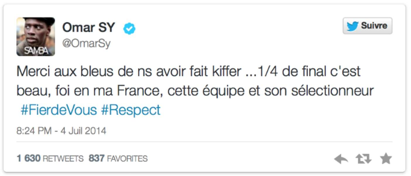 Omar Sy soutient toujours les Frenchies