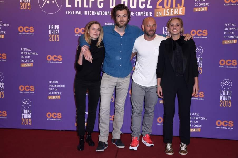 Adrianna Gradziel, Lannick Gautry, Franck Gastambide et Camille Cottin ont encore les pieds sur terre